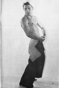 male physique vintage navy uniform