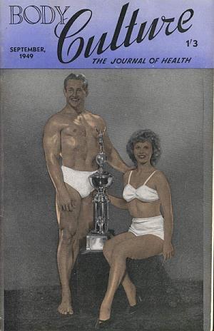 vintage body building magazine