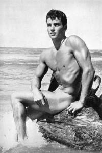 vintage bodybuilder posing nude