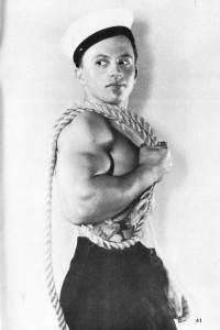 bery muscle boy in navy uniform
