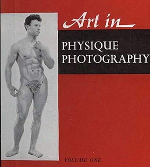 vintage magazine with beautiful muscle men posing