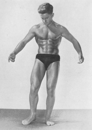 Vintage bodybuilder Bernard Pesco