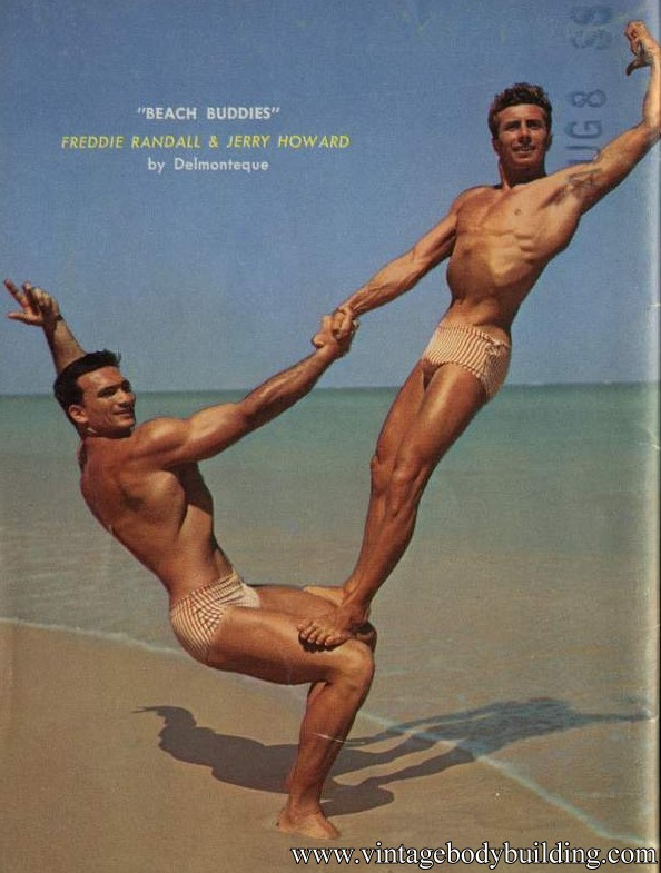 beautiful muscle men vintage photography