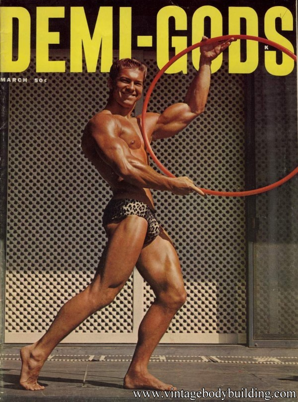 Male vintage physique magazine Demi Gods of 1961