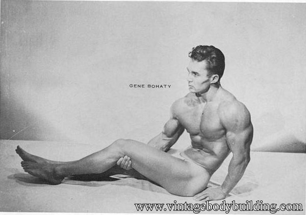 beautiful muscle model from vintage physique photo art