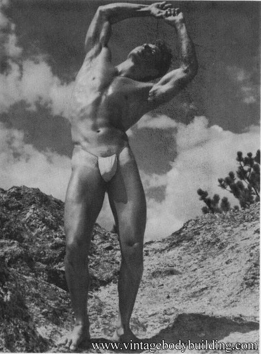 muscle male model from vintage physique photo art