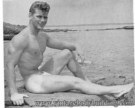 vintage bodybuilder physique photo art