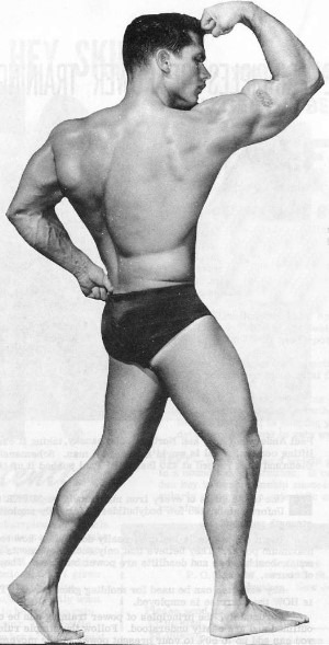 muscle model from vintage physuqye magazine