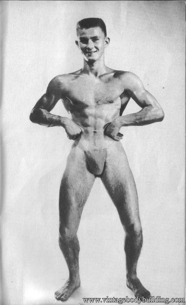 Young Male physique vintage model from American Apollo magazine