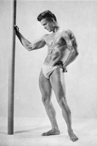male muscle model from vintage physique magazine