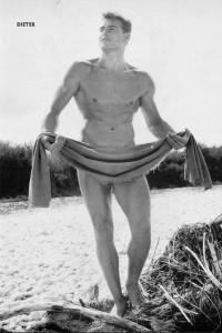 seducing vintage bodybuilder