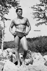 male physique vintage outdoors