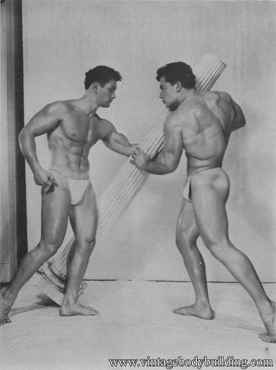 two bodybuilders from American Apollo magazine