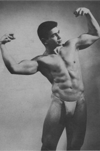 beautiful bodybuilder posing