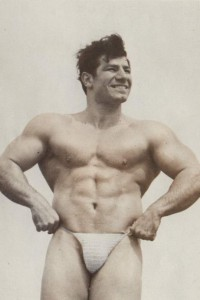 bodybuilder on vintage physique photo