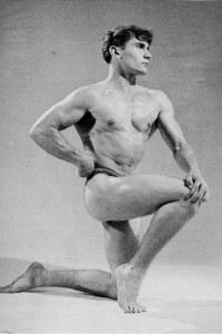 vintage photo of a bodybuilder
