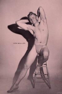 vintage muscle men photo art