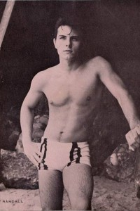 Handsome vintage physique male model