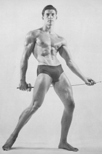 handsome vintage muscle male model