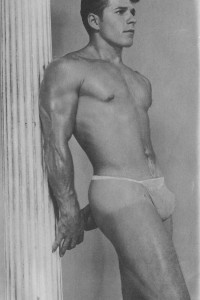 beautiful vintage male physique photo art