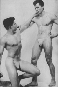 bodybuilders in vintage photography