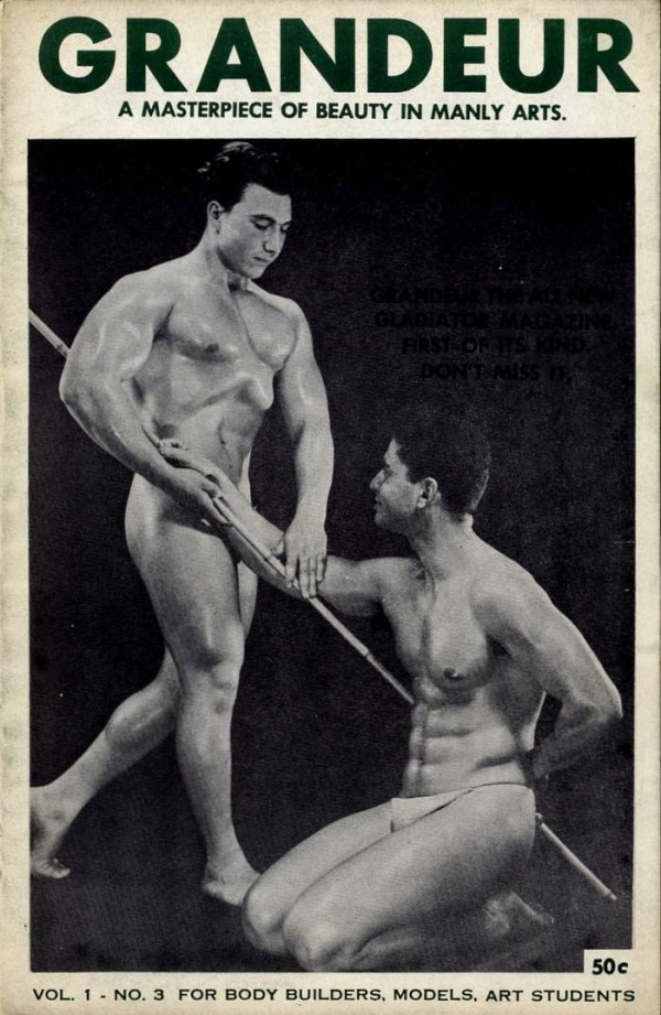 male vintage physique magazine of 1954