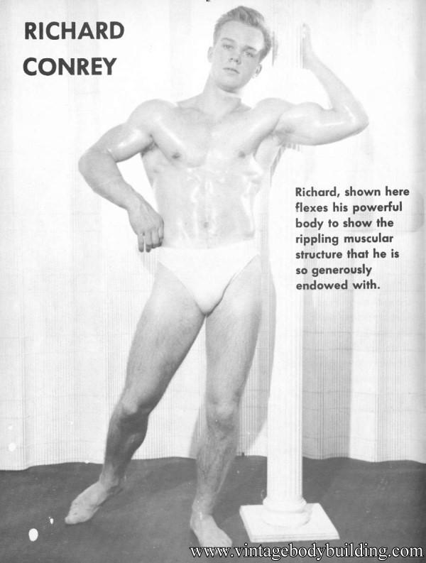 handsome vintage bodybuilder
