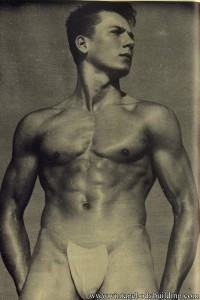male vintage physique photography of 1957