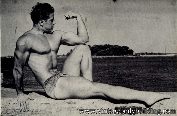 vintage male physique photo of 1954