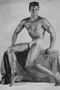muscle man vintage photo