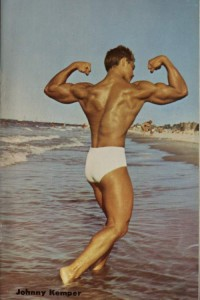 male vintage physique colour photo art