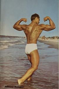 male vintage physique colour photo art