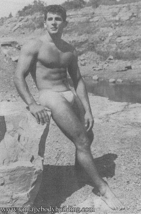 handsome bodybuilder vintage physique photo