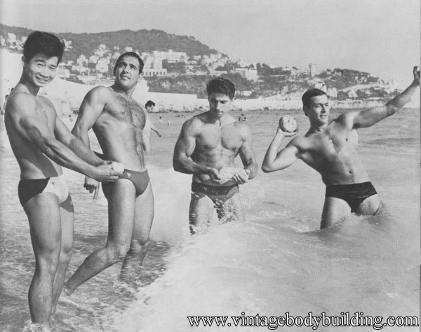 beautiful male vintage physique photo art