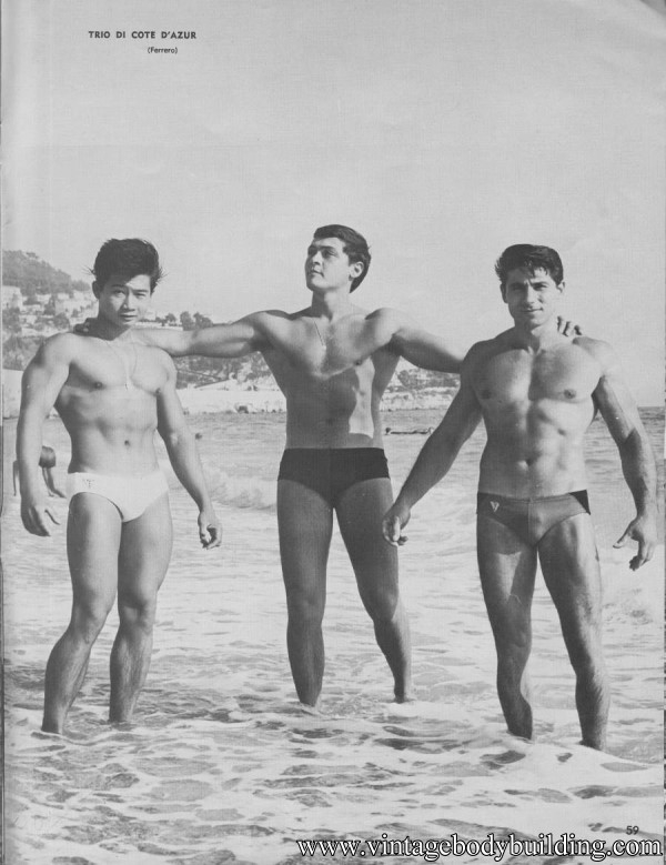 beautiful male bodybuilding photo art of 1968
