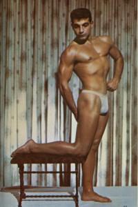 male vintage colour photo art