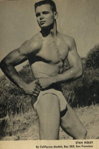 muscle model from vintage magazine