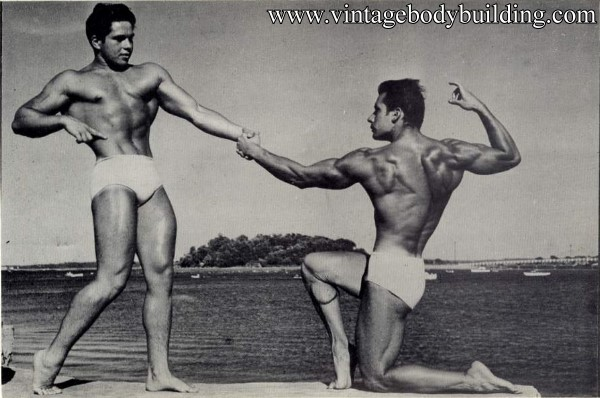 vintage male physique photo art of 1954
