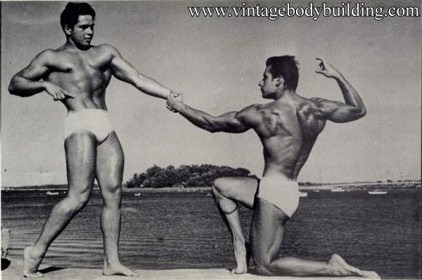 vintage male physique photo art of 1954