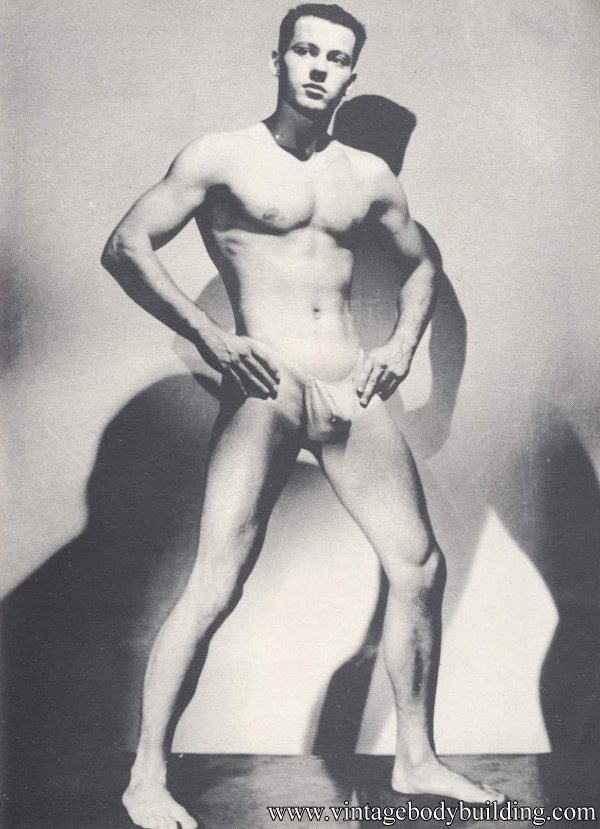 muscle guy posing