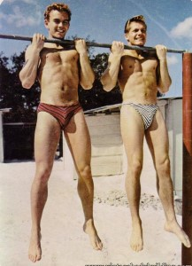 Two young bodybuilders