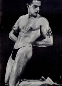 Muscle man vintage image