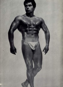 Vintage bodybuilder photo art