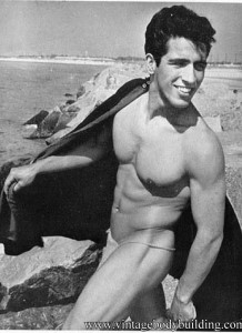 Sal Saverino on the shore